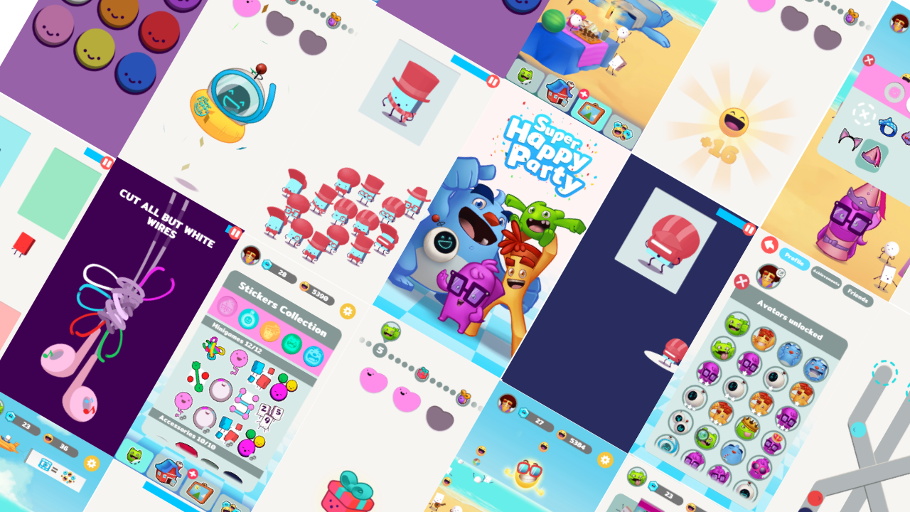 Super Happy Party Mobile Game Banner