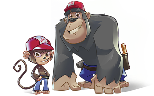 Super Happy Games Monkey Builders 500x313px